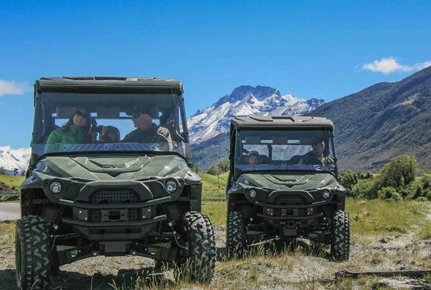 Exploring Glenorchy in an off-road 4x4