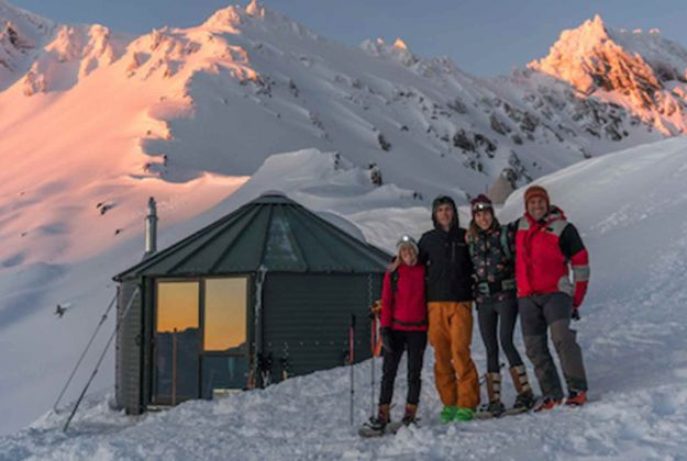 Using Camp Glenorchy as a base for fun in the snow